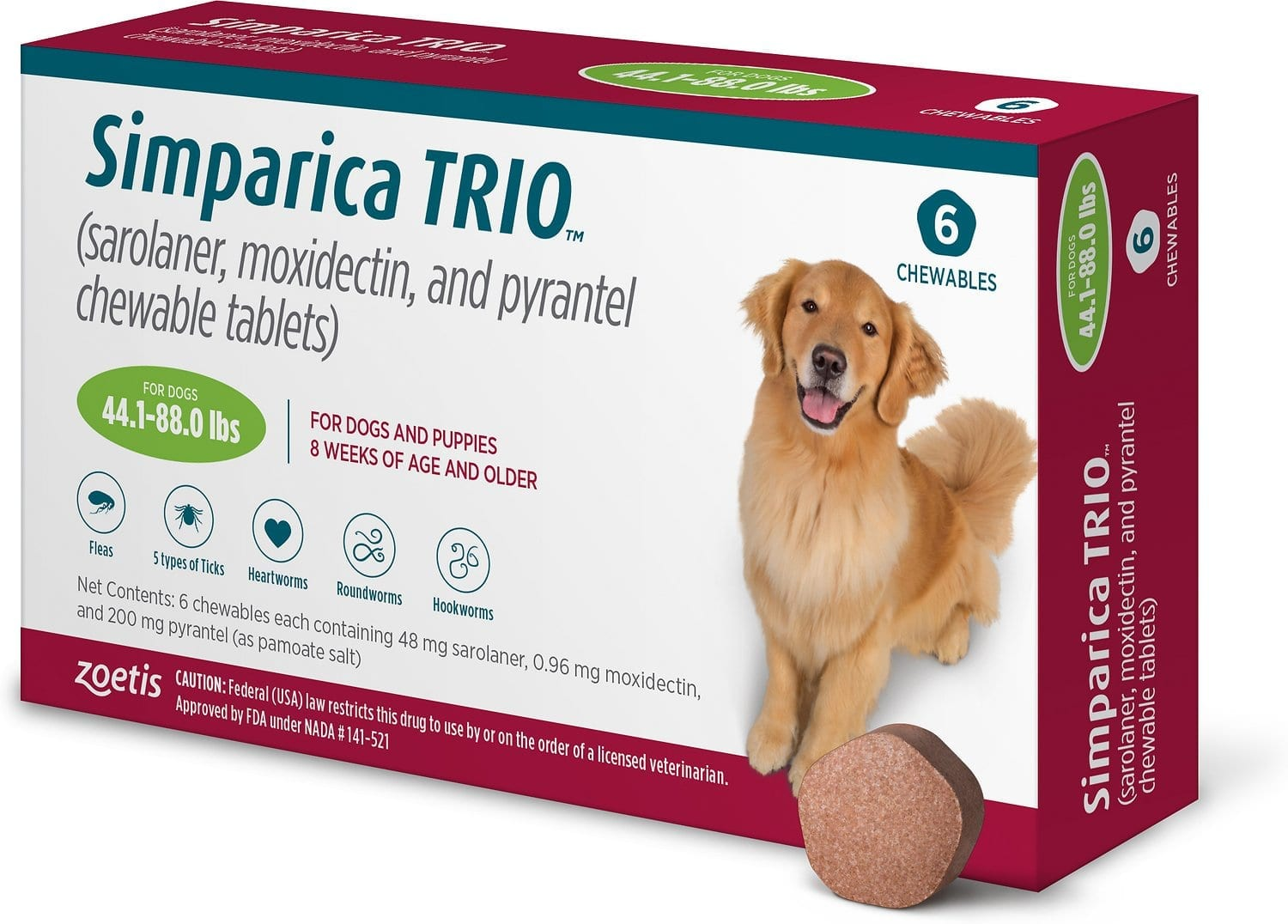simparica trio - get rid of dog ticks